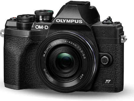 Olympus OM-D E-M10 Mark IV Micro Four Thirds System Camera Kit, 20 MP sensor, electronic viewfinder