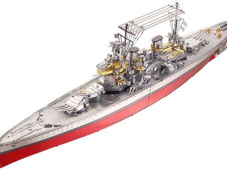 Piececool 3D Metal Model Kit for Adults -Hms Prince Of Wales Battleship DIY 3D Metal Jigsaw Puzzle