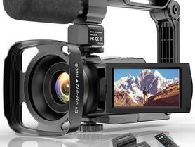 4K Camcorder HD Digital Video Camera for Youtube Vlogging Camera, IR Night 48MP 16X Digital Zoom