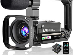 """Video Camera 2.7K Camcorder UHD 36MP Vlogging Camera for Youtube IR Night Vision 3.0"""" LCD Touch"""