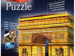 Ravensburger 12522 Arc De Triomphe Night Edition 216 Piece 3D Jigsaw Puzzle with LED Lighting