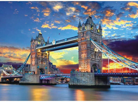 Tomoving 1000 Pieces Jigsaw Puzzles for Adults London Tower