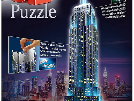 Ravensburger Empire State Building Night Edition 216 piece 3D Jigsaw Puzzle with LED lighting