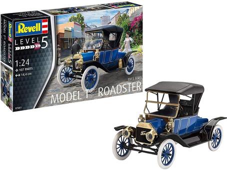 Revell RV07661 07661 7661 1:24 Ford T Roadster (1913) Plastic Model Kit, Various, 1/24