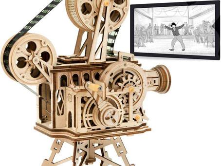 ROBOTIME Vitascope Kit Wooden Puzzle - Model Building Laser Cut 3D Puzzle Model Kits Adults