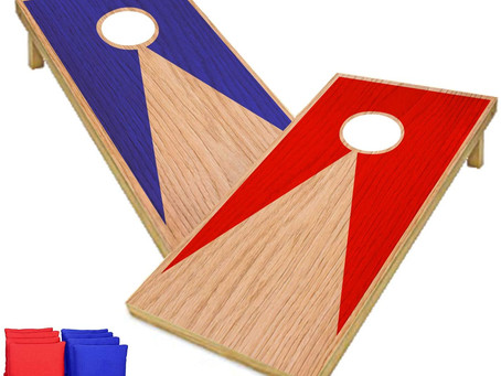 Original American Cornhole Blue & Red | Tossing Game | 100% Wooden| Premium Quality | Official Size