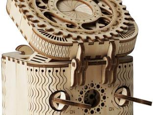 ROBOTIME Treasure Box 3D Puzzle Adults - Secret Puzzle Box Brain Teasers Wooden Model Building Kits