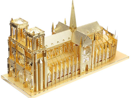 Piececool 3d Metal Model Kits for Adults - Notre Dame Cathedral Paris DIY 3d Metal Jigsaw Puzzle for