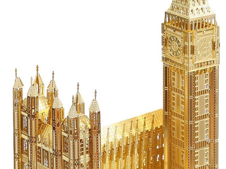 Piececool 3d Metal Model Kits for Adults - Big Ben DIY 3d Metal Jigsaw Puzzle for Adults