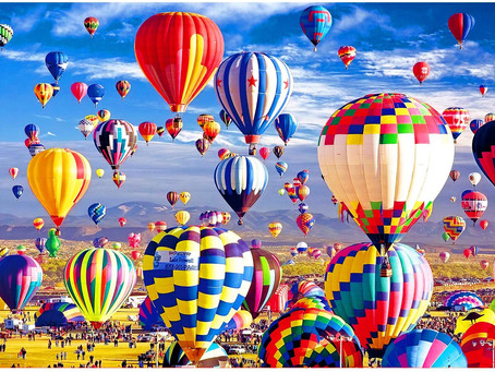 Sinoeem Jigsaw Puzzles for Adults 1000 Piece House of Puzzles Hot Air Balloon Art Jigsaw Puzzle