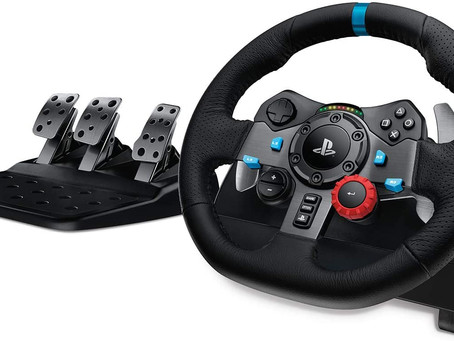Logitech G29 Driving Force Racing Wheel and Floor Pedals, Real Force Feedback, Stainless Steel