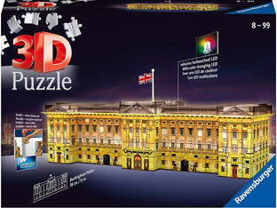 Ravensburger Buckingham Palace Night Edition 237 piece 3D Jigsaw Puzzle with LED lighting for Adults