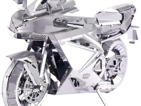Piececool 3D Metal Model Kits for adults - Motorcycle DIY 3D Metal Jigsaw Puzzle