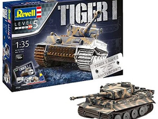 Revell 05790 - 75th Anniversary Tiger 1 Tank Model Gift Set Including Paints, Glue and Paintbrush