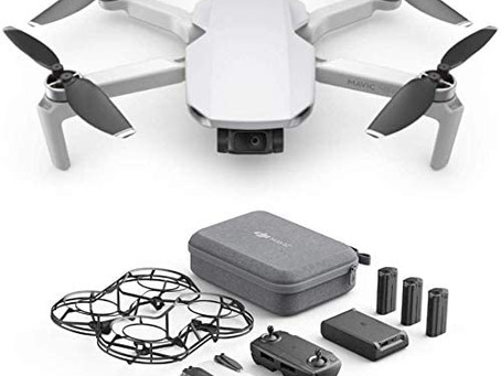 DJI Mavic Mini Combo - Ultralight and Portable Drone, 30 min. Flight Time