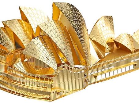 Piececool 3D Metal Model Kits - Sydney Opera House DIY 3D Metal Jigsaw Puzzle