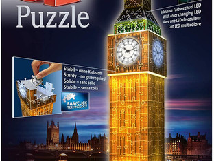 Ravensburger 12588 Big Ben Night Edition 216 Piece 3D Jigsaw Puzzle with LED Lighting for Adults