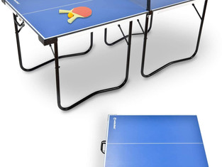WIN.MAX Foldable Mid-size Ping Pong Table - 6'x3' Preassembled Portable with Paddles and Balls x2