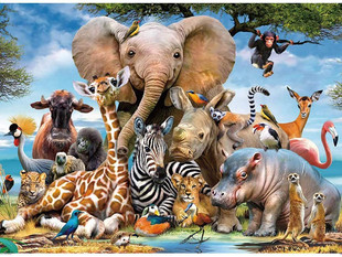 Coolzon 1000 Pieces Jigsaw Puzzles for Adults Puzzles Elephant
