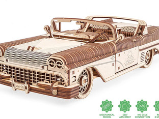 UGears 3d Puzzles For Adults Dream Cabriolet Mechanical Models Wooden Puzzle Brain Teaser