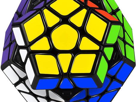 JQGO Megaminx Cube 3x3x3, Dodecahedron Speed Puzzle Cube 3x3, Magic Puzzle Cube Puzzle Brain Teaser