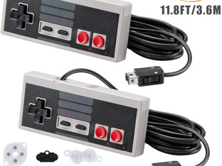 NES Classic Controller for Nintendo Classic Mini Edition, AGPTEK 11.8FT Long Cable 2 Pack Classic