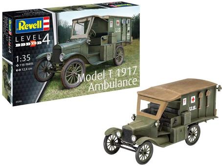 Revell RV03285 1:35 T 1917 Ambulance Plastic Model Kit, Multicolour, 1/35