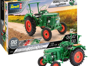 Revell RV07821 Easy Click 1:24 - Deutz D30 Tractor Plastic Model kit, Multicolour, 1/24