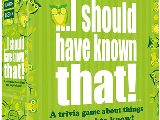 """I should have known that. 21026"""" About Things You Oughta Know. Trivia Card Game"""