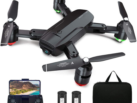 Dragon Touch GPS Drone with Camera for Adults, 1080P HD FPV Foldable RC Quadcopter