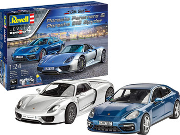 Revell RV05681 05681 Porsche Two Car Gift Set Includes Paints, Glue & Paintbrush 1:24 Scale Plastic