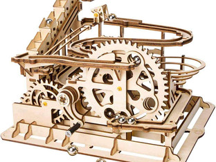 ROBOTIME Marble Run Jigsaw Puzzle Game 3D Wooden Model Kits Adults Mechanical Engineering Woodcraft
