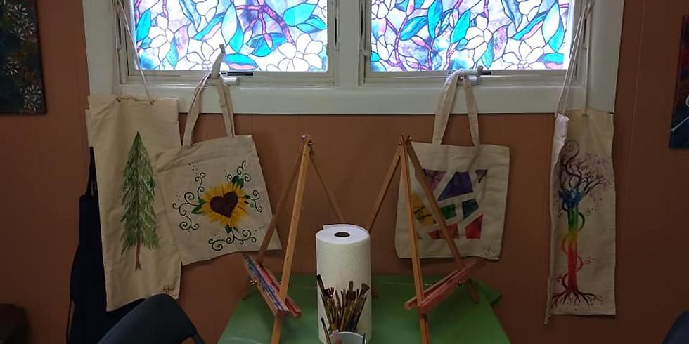 Canvas Bag Expressive Paint Party
