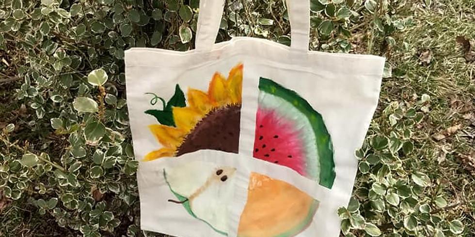 Dillsburg Farmers Market - Canvas Bag Painting