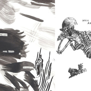 Spread from my zine, American Bleach Drinker Vol. 2