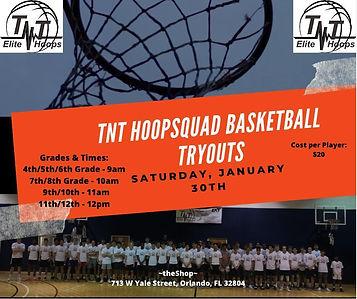 TNT HoopSquad Basketball Tryouts - Jan 3