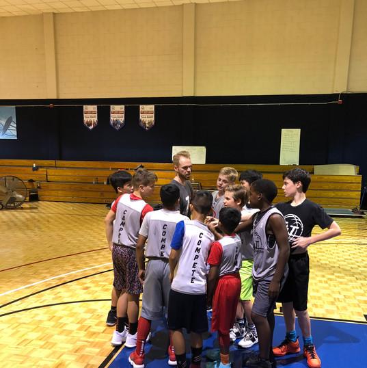 6th Grade Team Huddle.JPG