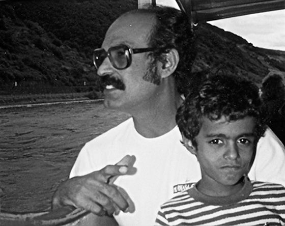 Mohammed Haddad in Germany with his father 1986