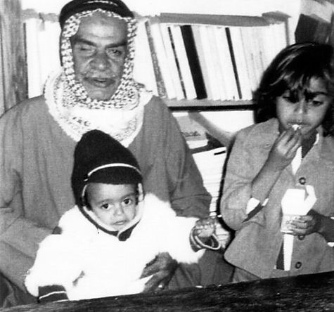 Mohammed Haddad with his grand father Mohammed Haddad