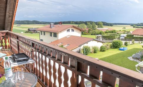 Balkon mit Blick nach Süden