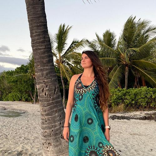 Turquoise Sunburst Dress
