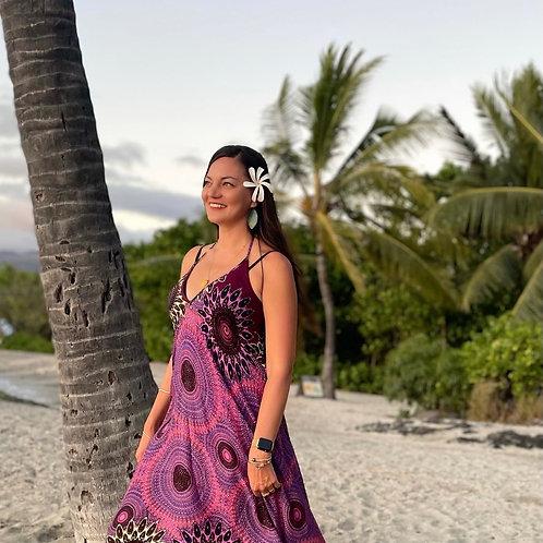 Purple Sunburst Dress