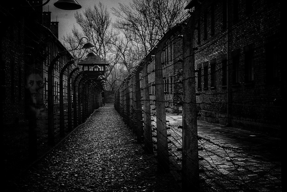 Ghost at Auschwitz & Birkenau concentration camp during the Holocaust