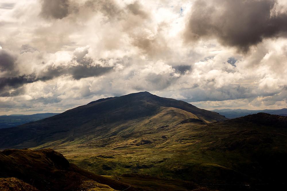 Snowdonia mountain range in Wales, UK