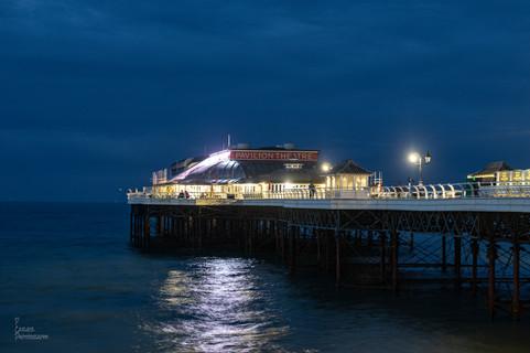 Comer Pier at Night