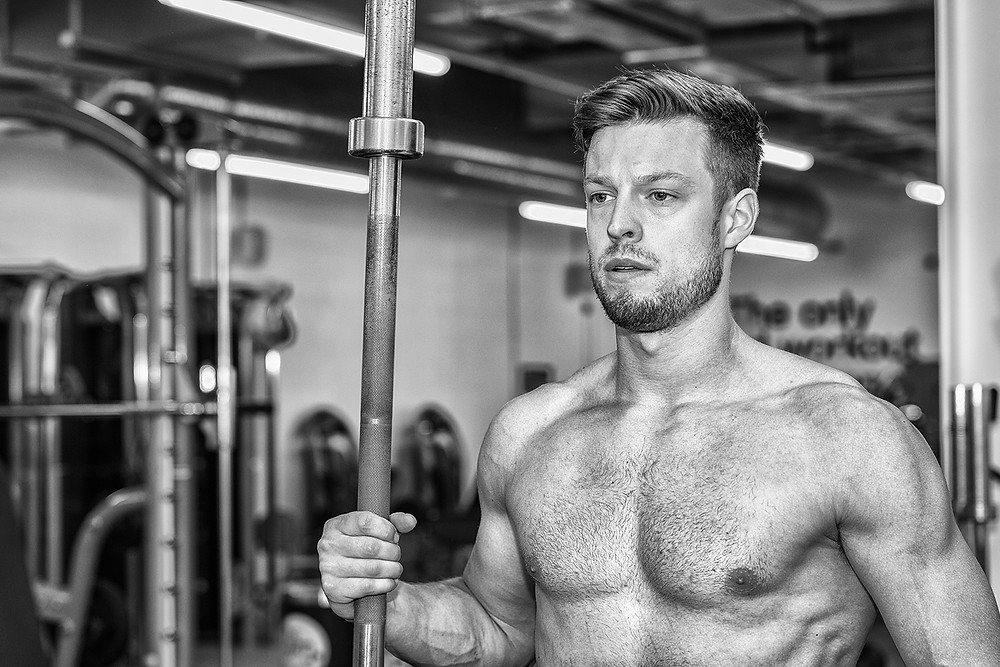 Liam Smith PT Gladiator Pose captured at The Gym Norwich
