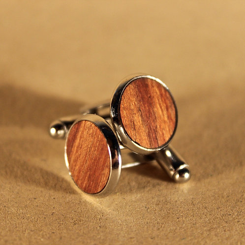 Wooden Gift Set - Cufflinks & Tie Clip, Personalised, Handmade