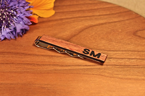 Wooden Tie Clip - Luxury, Personalised, Handmade