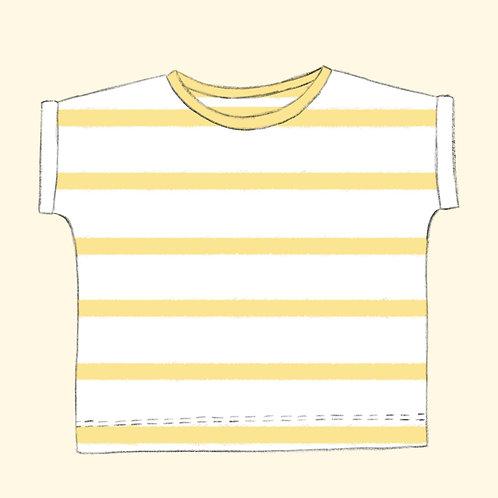Shirt Streifen zitrone Bio