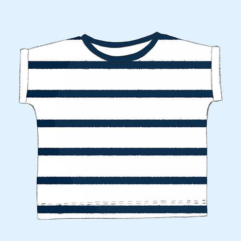 Shirt Streifen navy Bio